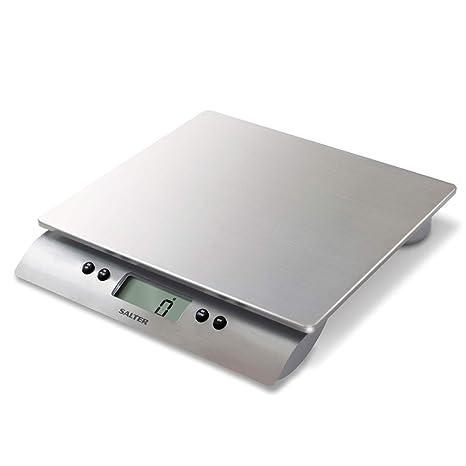 Salter 3013SSSVDR Bßscula de Cocina Digital, lÝnea High, 10 Kg, Aquatronic, Acero