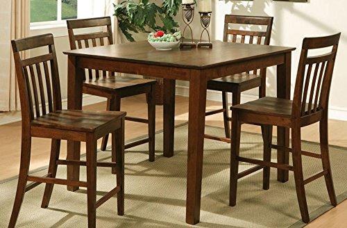East West Furniture EWT-OAK-T Square Pub Counter Table, 42-