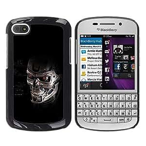 Be Good Phone Accessory // Dura Cáscara cubierta Protectora Caso Carcasa Funda de Protección para BlackBerry Q10 // Skull Robot