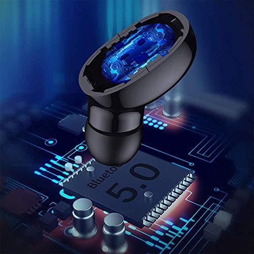 DeniseM117 - Auriculares Bluetooth inalámbricos TWS, estéreo, deportivos, Mic, incorporados, con bajos profundos para correr y deporte, color negro