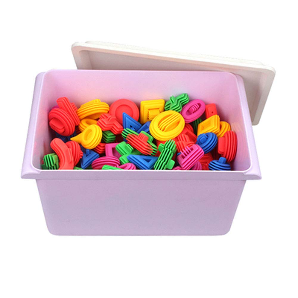 Jian E -// Toys - 2-3-4-6 Years Old Early Education Building Blocks Educational Toys Color Soft Body Thickening Building Blocks Plastic Spell Insert Assembling Toys Baby Intellectual Toys /-/