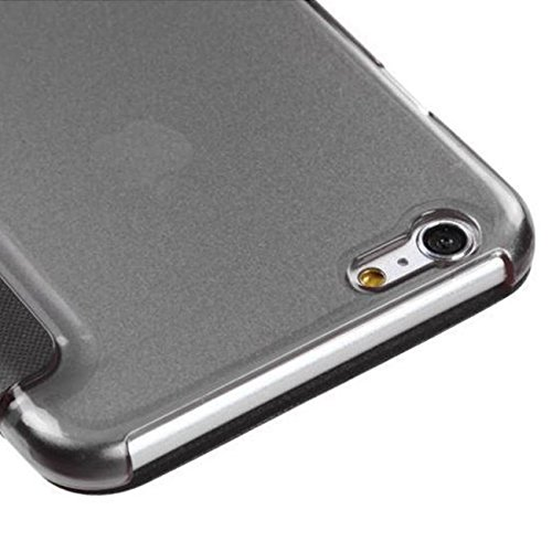 Étui à rabat noir pour iPhone 66S Plus 5.5Case fenêtre élégant Fine