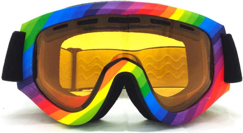 Gafas de Esquí Viento y Polvo Gafas,Gafas de Snowboard Antiniebla Protección con UV400 Gafas Protectoras Airsoft Gafas de Bicicleta Moto para Hombres y Mujeres