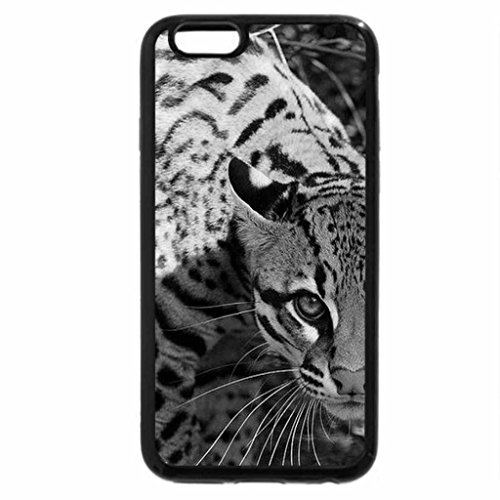 iPhone 6S Case, iPhone 6 Case (Black & White) - Ocelot-Cat