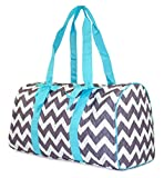 NGIL Chevron Quilted Duffle Bag (Teal Blue)