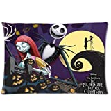 Home Decor Custom The Nightmare Before Christmas and Pumpkins Pillowcase 16x24 two sides Zippered Rectangle PillowCases Throw Pillow Covers