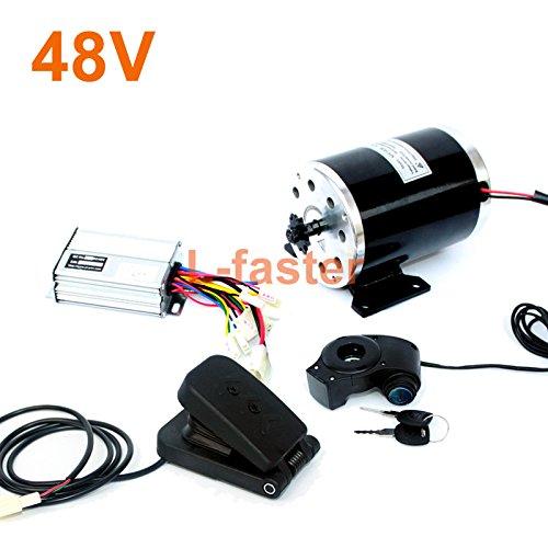 24v36v48v 500ワット電動高速エンジンMY1020起毛モーターで足電動バイク交換モーター使用25 hまたはt8fチェーン B07DLTTZGY 48V pedal kit 48V pedal kit