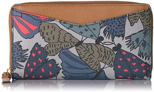 Fossil Caroline Rfid Zip Around Wallet Grey Multi Wallet