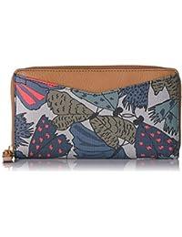 Fossil Caroline Rfid Zip Around Wallet Grey Multi Wallet