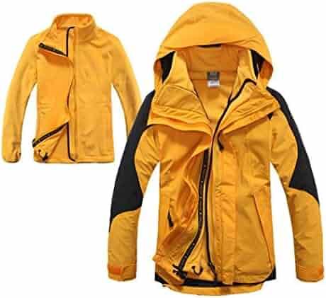 321d989c8195 HUIFEI High-end Two-Piece Ladies Winter Warm Ski Mountaineering Jacket  Hooded Outdoor Windbreaker