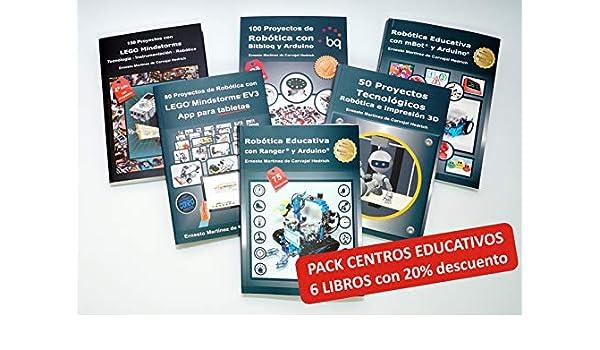 Pack 6 Libros LEGO+Arduino+Makeblock con 20% dto.: Amazon.es: Ernesto Martínez de Carvajal Hedrich: Libros