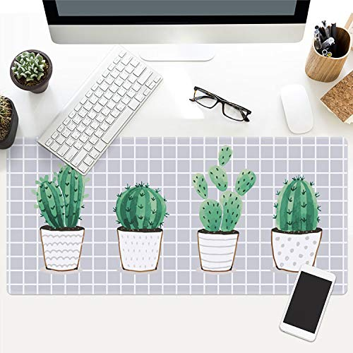 Ins Plant Series Game Mouse pad Large Thick Waterproof Office Notebook Table mat, 1,400x900x3mm
