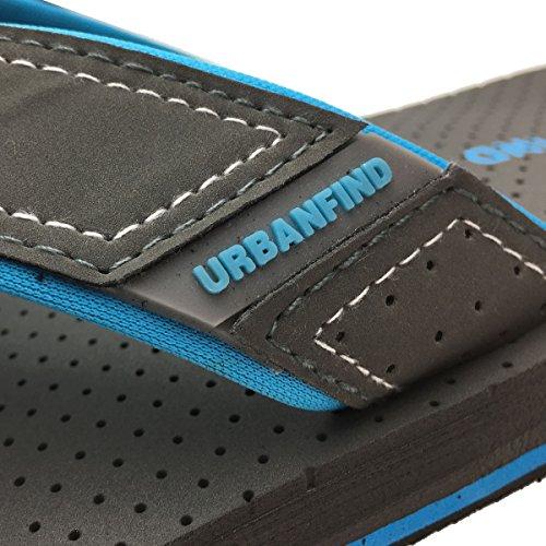 URBANFIND Herren Casual Outdoor & Indoor Flip-Flops Thong Beach Slipper Graue Art 3