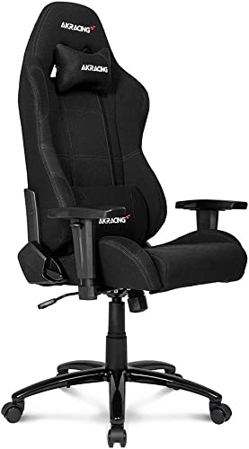 AKRacing Core Series EX-Wide Gaming Chair with Wide Seat, High and Wide Backrest, Recliner, Swivel, Tilt, Rocker and Seat Height Adjustment Mechanisms with 5 10 Warranty – Black