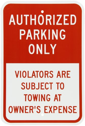 Sign Red Parking (SmartSign Aluminum Sign, Legend