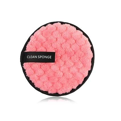 Blanco Limpiador Facial Lavado Facial Esponjas Almohadillas Desmaquillador Cosm/ético Puff 12cm