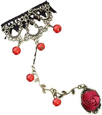 Fashion Lady Boho turquoise esclave chaîne Bague Bracelet Main Harnais Bijoux Cadeau