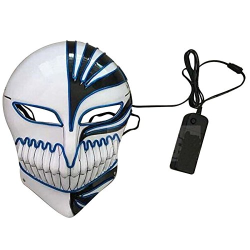 Capital Wireless Light Up LED Mask   Horror Grimace Ghost Dance of Death Costume (White -