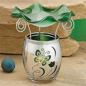 Artico SS-A-58818 Green Electroplated Glass Oil Burner Warmer Aroma