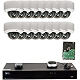 GW Security 16CH H.265 4K NVR 5-Megapixel (2592 x 1920) 4X Optical Zoom Network Plug & Play Video Security System, 16pcs 5MP 1920p 2.8-12mm Motorized Zoom POE Weatherproof Dome IP Cameras