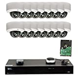 GW Security 16CH H.265 4K NVR 5-Megapixel (2592 x 1520) 4X Optical Zoom Network Plug & Play Video Security System, 16pcs 5MP 1920p 2.8-12mm Motorized Zoom POE Weatherproof Dome IP Cameras