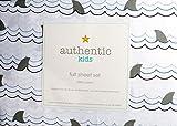 ocean sheets - Authentic Kids 4 Piece Full Sheet Set Gray Shark Fins Waves Water