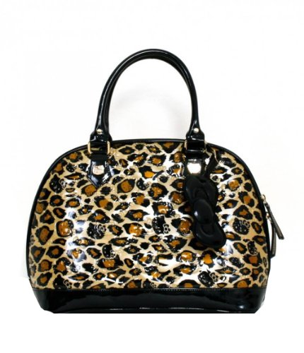 ♥ Hello Kitty Leopard Patent Embossed Tote Bag By Loungefly Leopard Patent