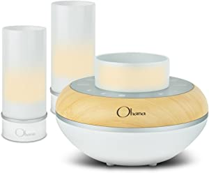 Bem Ohana Twilight Kit, 3 Piece Water Resistant Bluetooth Speaker with Built-in LED Candle Light