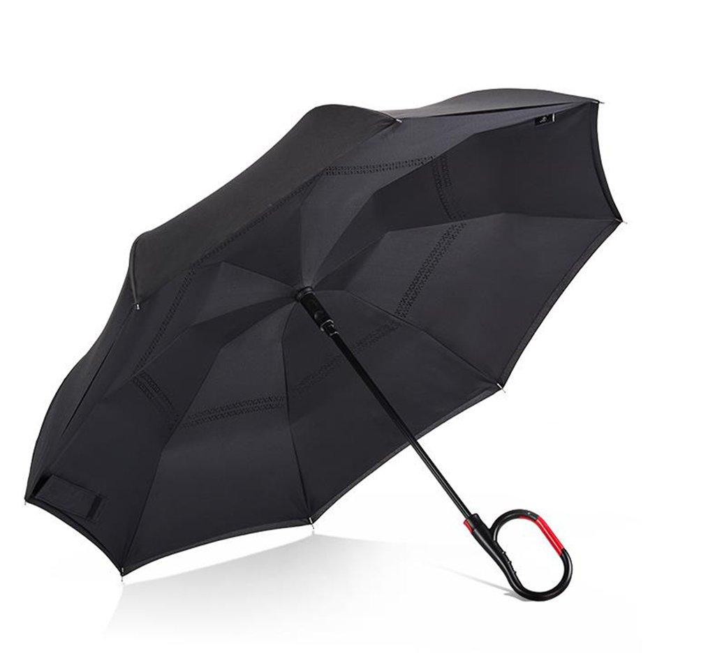 Paraguas plegable coche del revés C doble grande Para hombres y mujeres Sombrilla plegable doble mango (Color : B): Amazon.es: Hogar