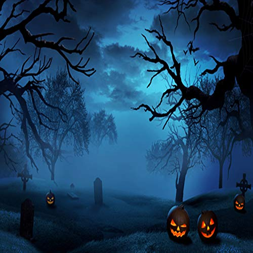 TMOTN 10x10ft Halloween Backgrouds Night Horrible Yard Tombstone Backdrop for Holloween Party for Children Celebration Photography Studio Photo D1953 -