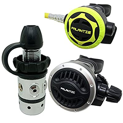 Palantic SCR-01-DIN-AJ-OC Scuba Diving Dive AS101 DIN Adjustable Regulator and Octopus Combo