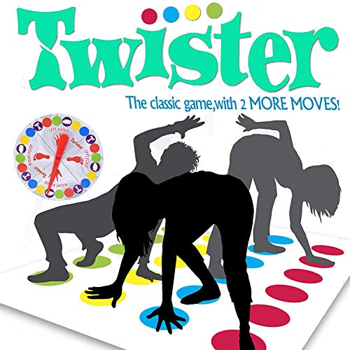 Team Twister Game,Children Board Game Learning Gift for Boys and Girls,[no Box,Simple Package] Family Party Game, Adults Picnic Outdoor Sport Twister Game ()