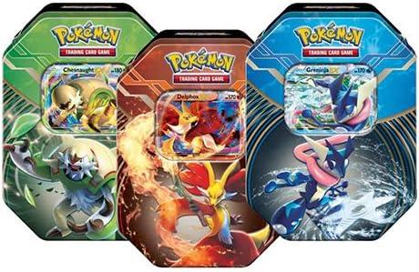 surtido 1 unidad 210-10933 Pokemon Juego de cartas Pokemon  Kalos Power Tin Trading