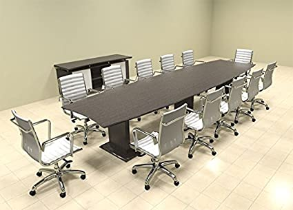 Amazoncom Modern Contemporary Boat Shaped Feet Conference - 14 foot conference room table