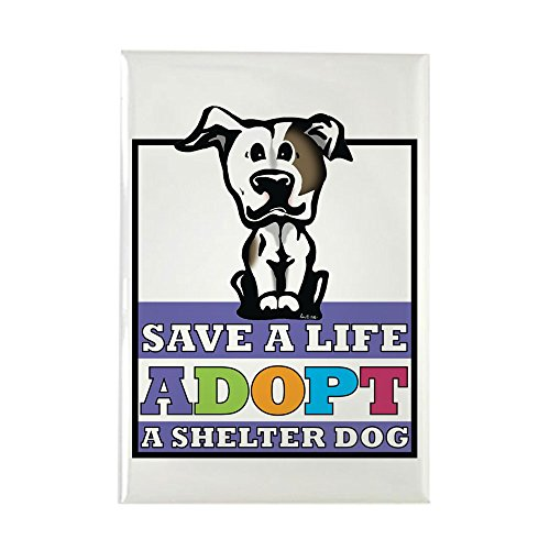 CafePress Adopt a Pitbull Rectangle Magnet Rectangle Magnet, 2