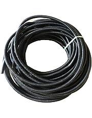 ESUPPORT 50 feet Black Width Split Loom Wire Flexible Tubing Conduit Hose Cover Length