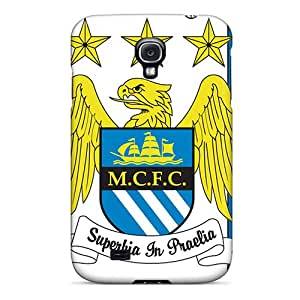 New Premium Flip Case Cover Manchester City Skin Case For Galaxy S4