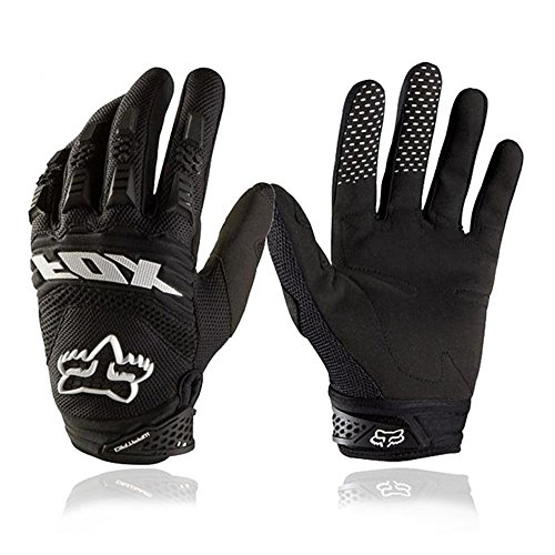Bicycling Gloves, [Free Bonus Stylus Pen] VAOO Full Finger Bike Gloves Light Silicone Get Pad Motorcycle Gloves Riding Gloves for Men and Women(Black)