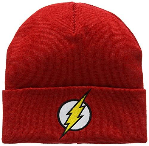 Talla Unisex de Adulto Gorro DC única Comics Logo DC Flash Punto Rosso vX0OTwAqx