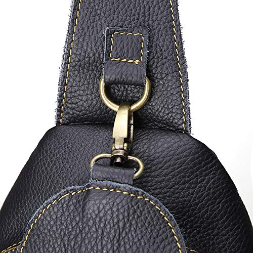 Bags Black Capacity Tote QZTG Shoulder Sling Bag main Large Cross Bag Zipper Body à sac Pu Classic Noir Browntote Men'S Handbags Chest Coffee qU7IawU