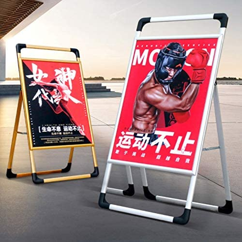 WQQTT Poster Display Stand Portable Poster Frame Aluminum Advertising Frame Sign Indoor and Outdoor Advertising Portable Signboard Floor-Standing Sign Holder Size : A