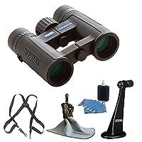 SNYPEX 8x32 HD Profinder Binocular + Snypex Binocular Tripod Adapter + OP/TECH USA Bino/Cam Harness Binocular or Camera Strap + Spudz Ultra Microfiber Cloth + 3 Piece Cleaning Kit - Accessory Bundle