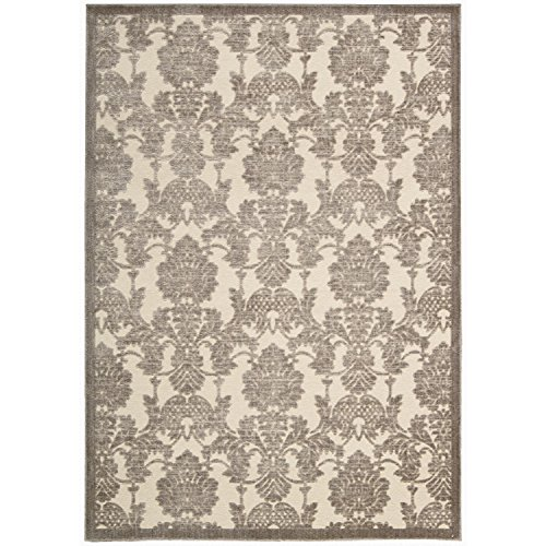 Rug Squared Corona Transitional Area Rug (CRA03), 2-Feet 3-Inches by 8-Feet, Ivory Latte