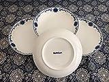 "8"" Blue and White Bone China Dinner Salad Plates"