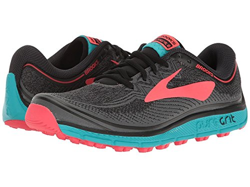 Brooks Women's PureGrit 6 Black/Ebony/Diva Pink 8.5 B US