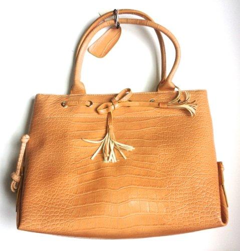 Tan Faux Snakeskin Handbag - Faux Leather Snake Skin Tote