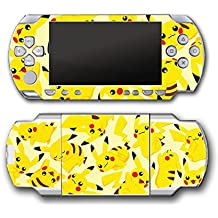 Pikachu Art Pokemon Go Design Pokeball Video Game Vinyl Decal Skin Sticker Cover for Sony PSP Playstation Portable Original 1000 Series System
