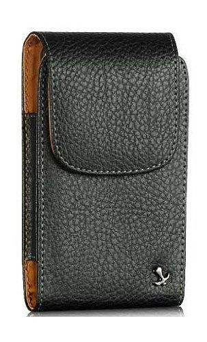 - Samsung Galaxy Avant Modern Design Vertical Napa Leather Case Swivel Clip Pouch With Hidden Magnetic Closure