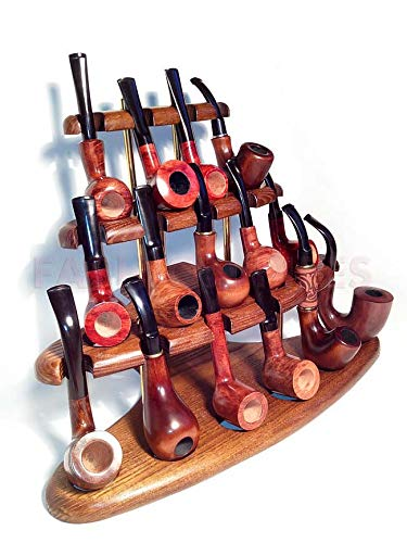 New Pipes Tobacco - New Wooden Pipe Stand Rack Holder for 15 Tobacco Pipe - Smoking Pipe. Handcrafted