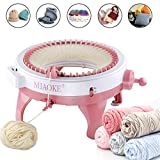 Knitting Machine,King Size 48 Needles Smart Weaving Loom Knitting Round Loom, Knitting Board Rotating Double Knit Loom Machine, DIY Knitting Loom Machines Weaving Loom Kit for Adults and Kids: more info